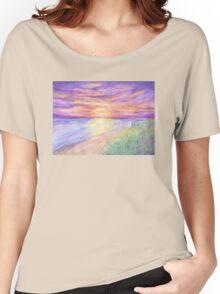 Flagler Beach Sunrise Women's Relaxed Fit T-Shirt