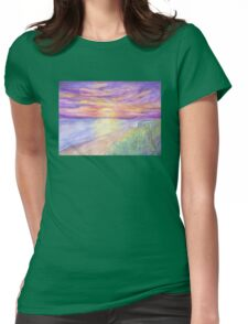 Flagler Beach Sunrise Womens Fitted T-Shirt
