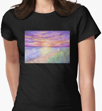 Flagler Beach Sunrise Womens Fitted T-Shirt
