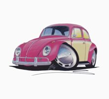 VW Beetle (2-Tone) Pink by Richard Yeomans