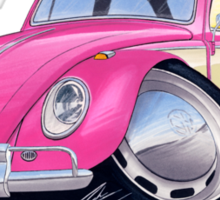 VW Beetle (2-Tone) Pink Sticker