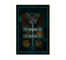 Dragonfly Cross Art Print