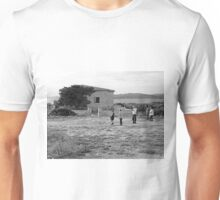 Island Caprera: house tree and tourist Unisex T-Shirt
