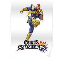 Super Smash Bros. 3DS/Wii U Captain Falcon Poster
