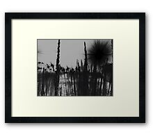 through the fields. Framed Print