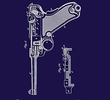 Gun - Pistol - 1904 Luger Patent Art by Barry  Jones