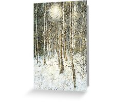 Winter Wood Greeting Card