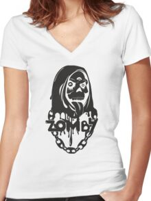Zomby Women's Fitted V-Neck T-Shirt