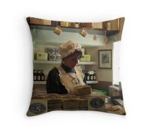 The Gingerbread Shop Throw Pillow