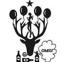 Stag Do - Oh My God - OMG T-Shirt by springwoodbooks