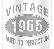 Vintage 1965 Birthday Poster