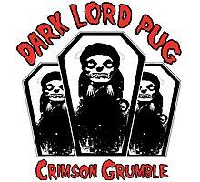 dark lord pug crimson coffin Photographic Print