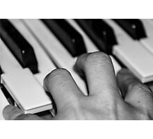Hand and keyboard Photographic Print