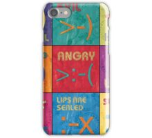 Emoticons Patch iPhone Case/Skin