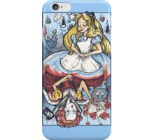 Alice and the Queen iPhone Case/Skin