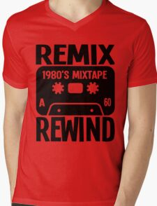 REMIX, REWIND Mens V-Neck T-Shirt