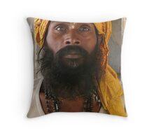 Hanuman Priest Throw Pillow