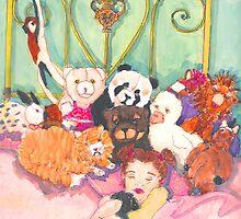 "Janine with all her ""friends"" by artworkbySARA"