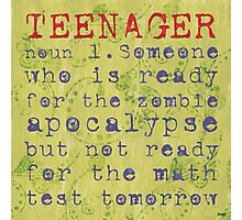 Teenager: Photographic Print