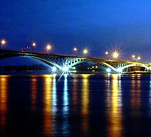 Peace BridgeAt Night by Kathleen Struckle