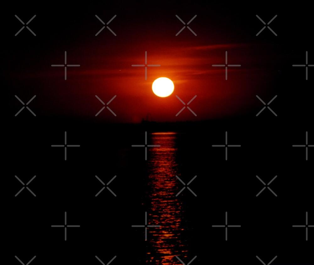 Crimson Sunset (Lake Michigan) by mikrin