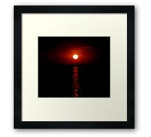 Crimson Sunset (Lake Michigan) Framed Print