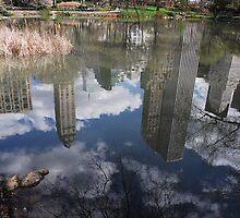 Skyline reflections by Farras Abdelnour