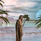 Golden Princesses Blue Sunset by Sazzart