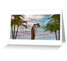 Golden Princesses Blue Sunset Greeting Card