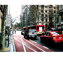 LEFT TURN MUST TURN LEFT buses excepted Photographic Print