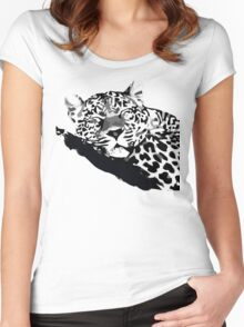 LEOPARD VECTOR Women's Fitted Scoop T-Shirt