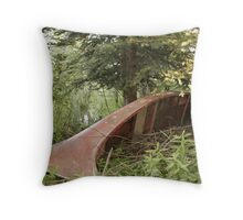 Old Canoe Throw Pillow