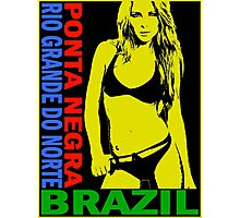 PONTA NEGRA BRAZIL-POP Photographic Print