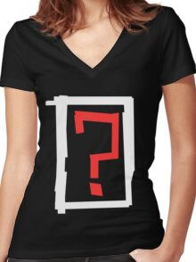? Women's Fitted V-Neck T-Shirt