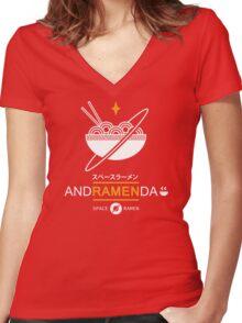 Andramenda Women's Fitted V-Neck T-Shirt