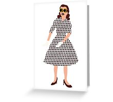 Steam Punk 50s-60s Dot Style Greeting Card