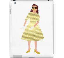 Steam Punk 50s-60s Dot Style Gold iPad Case/Skin