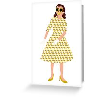 Steam Punk 50s-60s Dot Style Gold Greeting Card