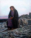 Christ in the wilderness after Ivan Nikolaevich Kramskoi by Hidemi Tada