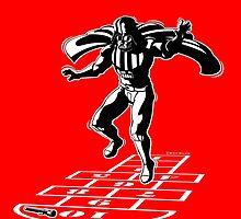 Darth Vader Hopscotch by RichWilkie