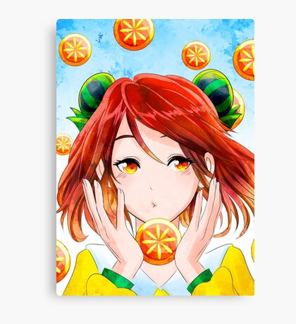 Fruit Girl Canvas Print