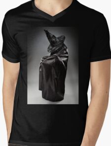 Witch wearing black attire with face hidden Mens V-Neck T-Shirt