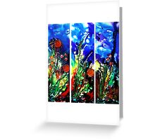 Eyes of Nature (triptych) Greeting Card