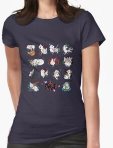 Okami brush gods Womens Fitted T-Shirt