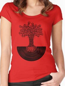 Music Roots Women's Fitted Scoop T-Shirt
