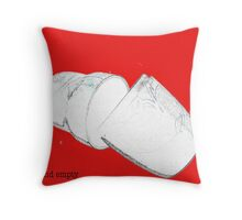 broken and empty Throw Pillow