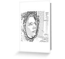 mirror girl Greeting Card