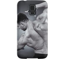 Athletic man doing bodybuilding moves Samsung Galaxy Case/Skin