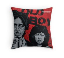 Old Boy - a film by Park Chan-Wook - movie poster Throw Pillow