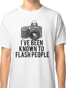 Flash People Funny Photographer Classic T-Shirt